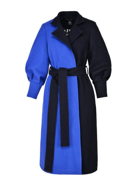 Długi Wełniany Płaszcz Chaber 1