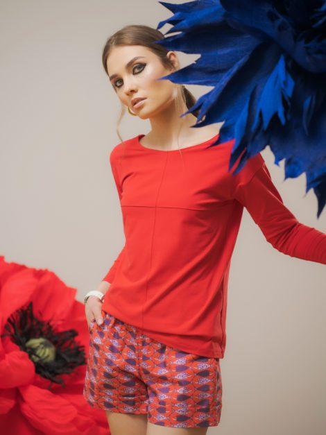 Bluzka basic czerwona 2
