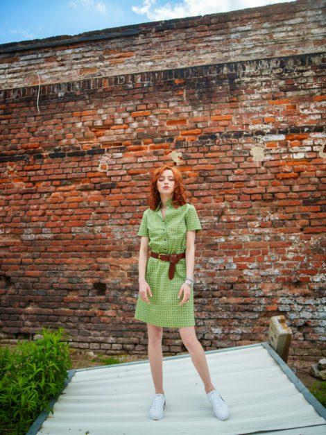 sukienka art deco zieleń 3