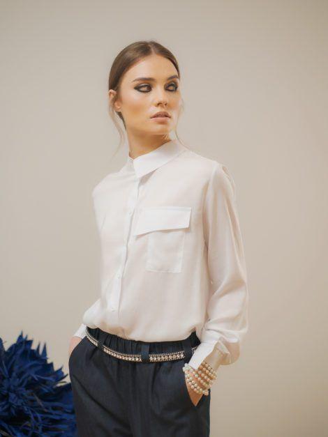 Biała bawełniana koszula 2