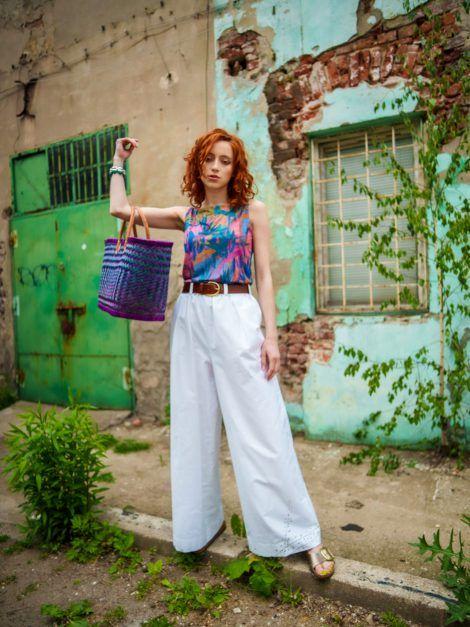białe spodnie, top4