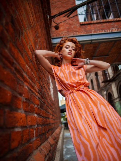 sukienka pomarańcz 9
