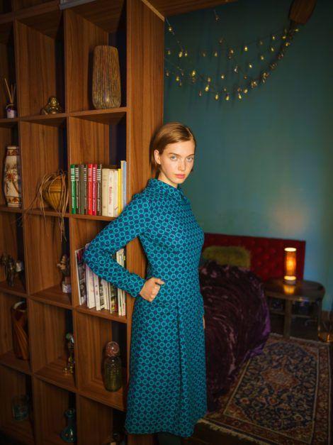 Sukienka retro morska1